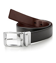 Perry Ellis Portfolio® Men's Black/Brown Reversible Mr. Strong Belt