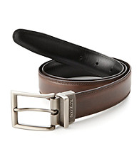 Perry Ellis Portfolio® Men's Brown/Black Leather Belt