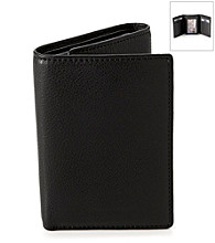 Perry Ellis Portfolio® Men's Black Park Avenue Flip-Up Trifold Wallet