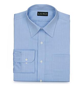 Lauren® Men's Blue Herringbone Dress Shirt