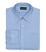 Lauren® Men's Blue Herringbone Dress Shirt