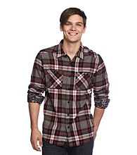 Mambo® Men's Red/Black Flannel Buttondown Shirt