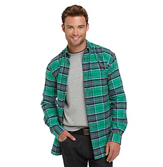John Bartlett Consensus Men's Plaid Flannel Buttondown Shirt