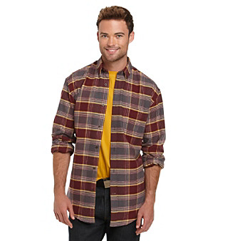 Exclusively ours! Available in a variety of traditional and updated patterns, this casually versatile flannel shirt is a must-have men's wardrobe item that blends comfort with a measure of classic style.