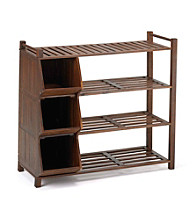 Merry Products, Corp. 4-Tier Outdoor Shoe Rack with Cubbies