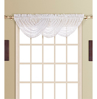 New Rochelle Waterfall Valance by United Curtain Co.