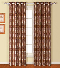 Union Square Chocolate Drapery Panel by United Curtain Co.