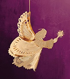 ChemArt 3D Angel with Star Christmas Ornament