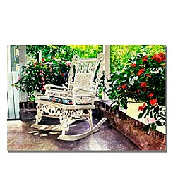 Trademark Fine Art Summer Sun Porch Framed Art by David Lloyd Glover
