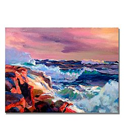 Trademark Fine Art Surf Crashes Framed Art by David Lloyd Glover