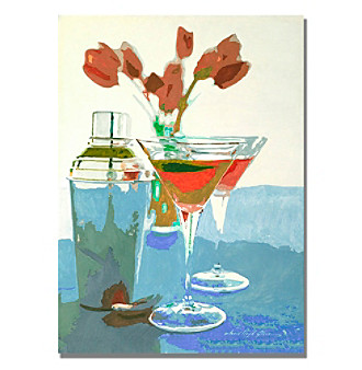 Trademark Fine Art Tulips and Martinis Framed Art by David Lloyd Glover