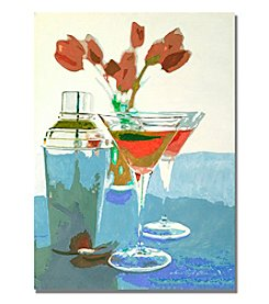 Trademark Fine Art Tulips and Martinis Framed Art by David Lloyd Glover