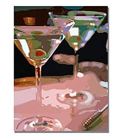 Trademark Fine Art Two Martini Lunch Framed Art by David Lloyd Glover