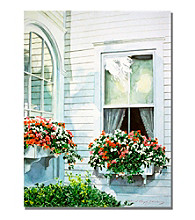 Window Boxes Framed Art by David Lloyd Glover