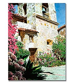 Trademark Fine Art Mission Carmel Bell Tower Framed Art by David Lloyd Glover