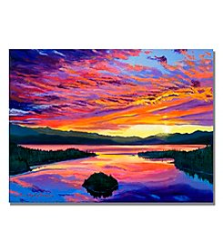Trademark Fine Art Paint Brush Sky Framed Art by David Lloyd Glover