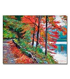 Trademark Fine Art Rockefeller Park Framed Art by David Lloyd Glover