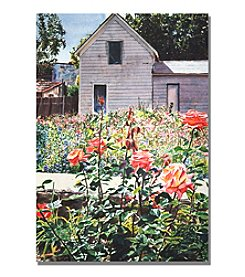 Trademark Fine Art Rose Garden Framed Art by David Lloyd Glover