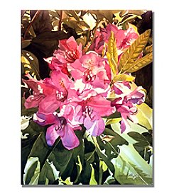 Trademark Fine Art Royal Rhododendrons Framed Art by David Lloyd Glover