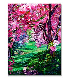 Trademark Fine Art Sakura Romance Framed Art by David Lloyd Glover