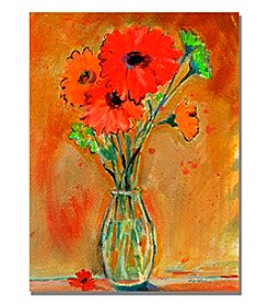 Trademark Fine Art Daisy Vase Framed Art by Shelia Golden