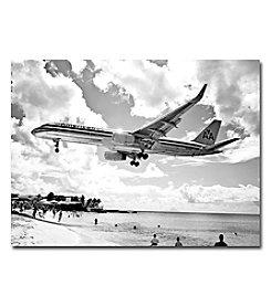 Trademark Fine Art American Airliner Framed Art by Shelia Golden