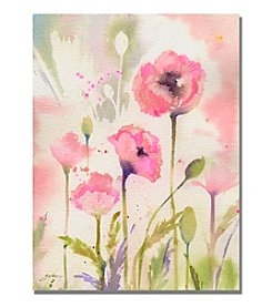 Trademark Fine Art Oriental Poppy Garden Framed Art by Shelia Golden