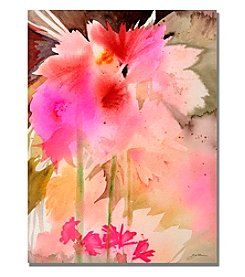 Trademark Fine Art Pink Garden Framed Art by Shelia Golden