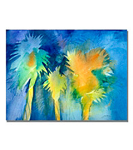 Night Palm Framed Art by Shelia Golden