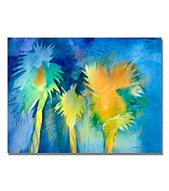 Trademark Fine Art Night Palm Framed Art by Shelia Golden