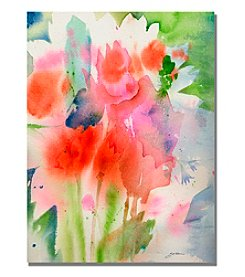 Trademark Fine Art Bouquet in Spring Framed Art by Shelia Golden