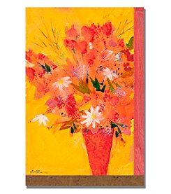 Bouquet with Yellow II Framed Art by Shelia Golden