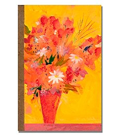 Bouquet with Yellow Framed Art by Shelia Golden