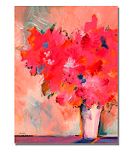 Contemporary Floral Framed Art by Shelia Golden