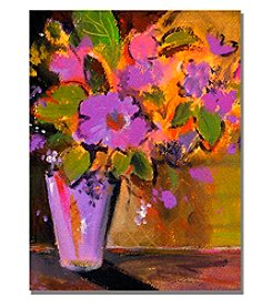 Trademark Fine Art Purple Magenta Flowers Framed Art by Shelia Golden