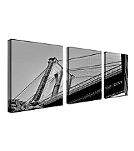 Preston , Brooklyn Bridge II set of 3 Framed Art by Preston