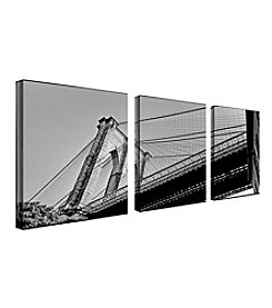 Brooklyn Bridge II Triptych Framed Art by Preston