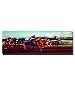 Trademark Fine Art The Race Framed Art by Preston