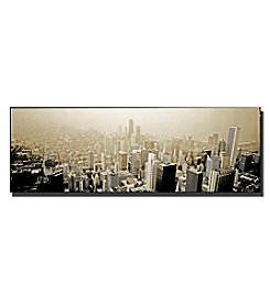 Trademark Fine Art Chicago Skyline Framed Art by Preston