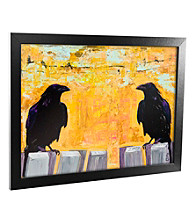 'Gossiping' Canvas Framed Art
