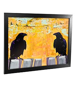 Trademark Fine Art 'Gossiping' Canvas Framed Art