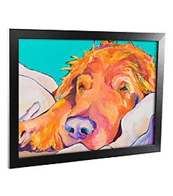 Trademark Fine Art 'Snoozer King' Canvas Framed Art