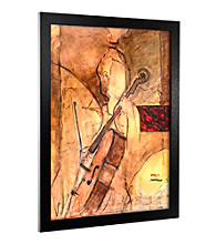 'Old Cello' Canvas Framed Art
