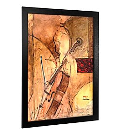 Old Cello' Canvas Framed Art