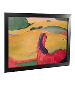 Trademark Fine Art Horse in a Landscape Canvas Framed Art