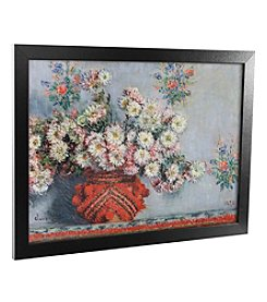 Chrusanthemums' Canvas Framed Art