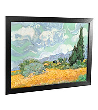 'Wheatfield with Cypresses 1889' Canvas Framed Art