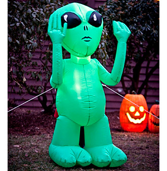 Inflatable Green Alien