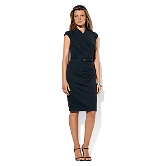 Lauren Ralph Lauren Ruched Belted Dress