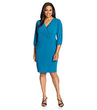 AGB® Plus Size Solid Ity Dress